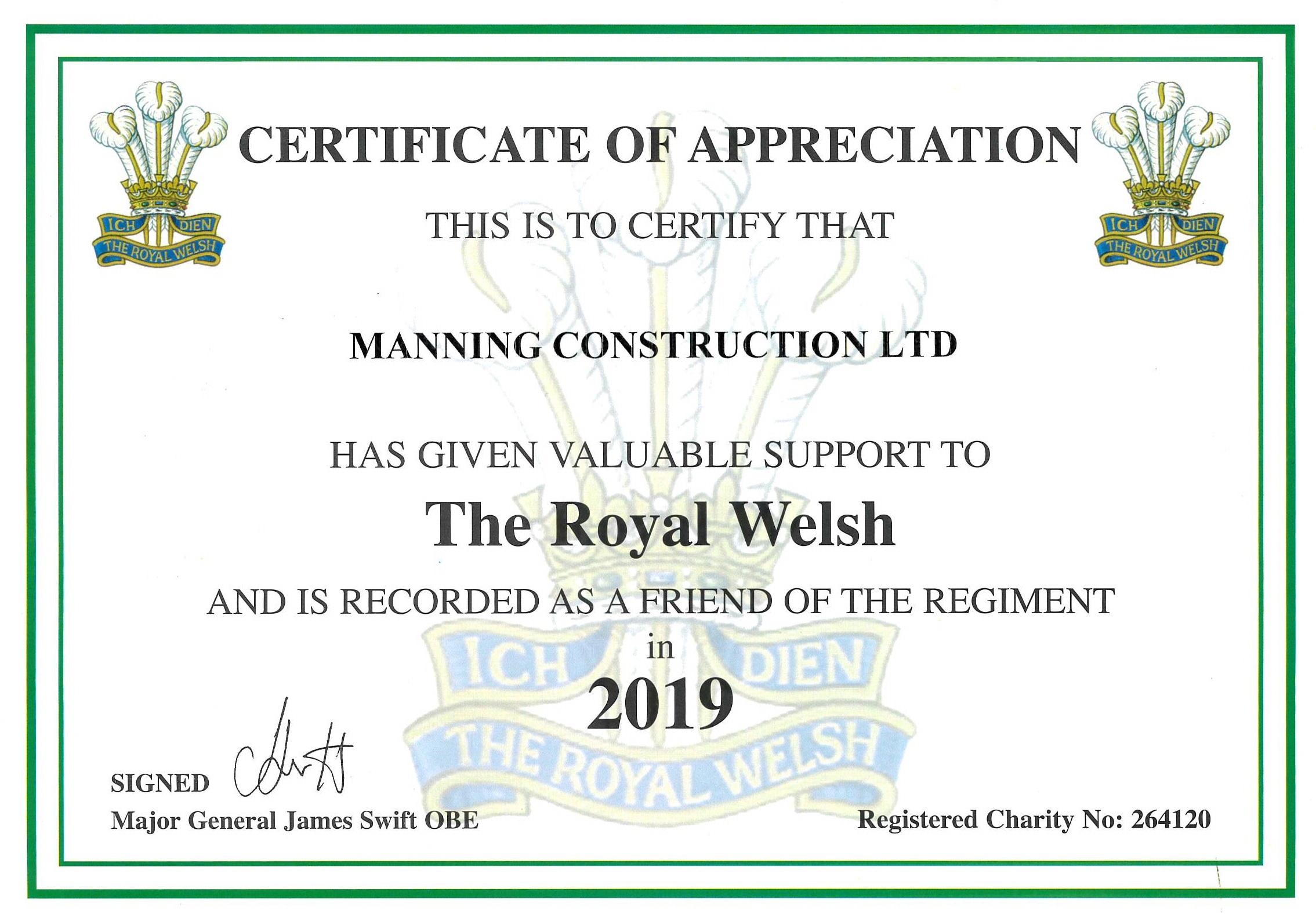 Royal Welsh Regiment Friend